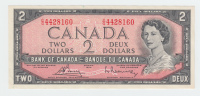 Canada 2 Dollars 1954 (1972 - 1973) XF+ CRISP Banknote P 76c  76 C - Canada