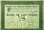 MOTEURS ROTATIFS BURLAT 1911 (N° 361) - Transports
