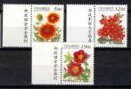 China Taiwan 1998, Mi. # 2436-38 **, MNH-VF, Flowers - Herbs With Imprint - Ongebruikt