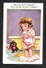 """Petite Fille Dénudée Et Chat Noir. """"Tu Ne Vois Donc Pas Que Je M'habille?"""" Comiques Séries . F. House Barnes. N°7194 - Chats"""