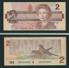 Banconota Da  2  DOLLARI  Del  C A N A D A - Anno  Ottawa 1986. - Canada