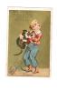 CHROMO DORE ENFANT ET PETIT CHAT - LE TOUCHER - CAFE FOUQUET -Usine à Boulogne S/seine - - Kaufmanns- Und Zigarettenbilder
