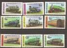 Trains Locomotives  MNH** Nicaragua   YT 1098/03 + A 907/09 - Trains