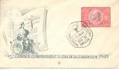 SOBRE 1ER. DIA DE EMISION CONMEMORASION DE LA JURA DE LA CONSTITUCION DE 1949   AÑO 1949  OHL - FDC