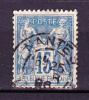 Année 1884-90 - Yvert N° 101 - T II - Etat Oblitéré - Papier Quadrillé - Dentelé 14 X 13 1/2 - 1876-1898 Sage (Type II)