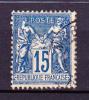 Année 1884-90 - Yvert N° 101a (bleu Foncé) - T II - Etat Oblitéré - Papier Quadrillé - Dentelé 14 X 13 1/2 - 1876-1898 Sage (Type II)