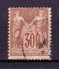 Année 1876/1878 - Yvert N° 80a - Brun - Type Sage T II - Etat Oblitéré - 1876-1898 Sage (Type II)
