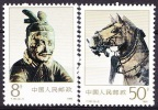 China 1990 Yvert 2998 / 99, Bronze Chariot Emperor Qin Shihuang, MNH - 1949 - ... République Populaire