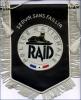 FANION POLICE NATIONALE LE RAID  AVEC ETOILE SUR DRAPEAU  ETAT NEUF  CANETILLE - Police & Gendarmerie