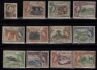 Dominica Used 1954, 12v QE Views, Cocoa, Crafts Baskets, Lime Plant, Fruit , Gardens, Boiling Lake, - Dominica (...-1978)