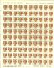 ITALIA 1968 MNH Stamp(s) In Sheet Of 100 Definitive 100 Lira 1267 - 6. 1946-.. Republic
