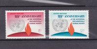 NATIONS  UNIES  NEW-YORK  1973       N° 235 - 236      NEUFS**   CATALOGUE YVERT - New York -  VN Hauptquartier