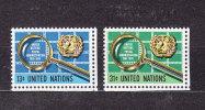 NATIONS  UNIES  NEW-YORK  1976      N° 269 - 270     NEUFS**   CATALOGUE YVERT - New York -  VN Hauptquartier