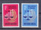 NATIONS  UNIES  NEW-YORK  1970      N° 206 - 207    NEUFS**   CATALOGUE YVERT - New York -  VN Hauptquartier
