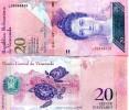 VENEZUELA:  20 Bolivares 5-9-2009 P-NEW UNC  / Luisa Caceres & Sea Turtles - Venezuela