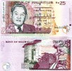 MAURITIUS:  25 Rupees  2006  UNC  *P-49c  Nice Banknote - Seychellen