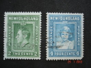 Newfoundland 1938 K.George V I  2  &  3 Cent       SG268  And  SG269    Used - 1908-1947