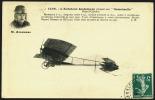 Schöne Alte Flugpostkarte Von Couzinet René, Der Vater Des Arc-en-Ciel, Avion Trimoteur Pilot Par Drouhain,27.8. 1912 Vo - 1906-38 Semeuse Camée