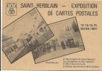 44  SAINT  HERBLAIN    EXPOSITION DE  CARTES  POSTALES  12 13 14  15  MARS  1981 - Saint Herblain