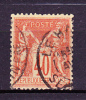 Année 1877/1880 - Yvert N° 94a - Vermillon - Type Sage T II - Etat Oblitéré - 1876-1898 Sage (Type II)