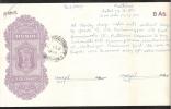 HUNDI INDIA PAPER 8 Annas MADURAI 19.8..1959  XF-AU - 1950-59 Republic
