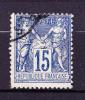 Année 1877/1880 - Yvert N° 90 - Bleu - Type Sage T II - Etat Oblitéré - 1876-1898 Sage (Type II)