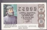 Lottery - Espana - Spain - Juan Ponce De Leon - Lottery Tickets