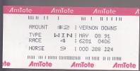 AmTote Horse Race Ticket : Vernon Downs - Tickets - Vouchers