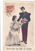 19826 Souvenir Du 156e De Ligne -correspondance Magnac Laval - Militaire Amoureux Couple Fleur