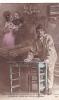 19827 Le Reve Soldat, Etre Classe- Calife 205 -correspondance Magnac Laval - Militaire Amoureux Couple Table - Guerre 1914-18