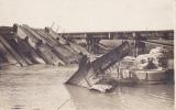 Senuc-Termes Zerstörte Brücke   Carte Photo Allemande   Feldpost - France