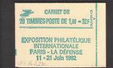 Cote + 55 € - Liberté Gandon Carnet 2219 C1 - Daté 25.5.82 Presse 6 Conf 8 Fermé Et SUPERBE ** - 1982-90 Liberté De Gandon