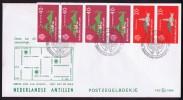 1977  Postzegelboekje FDC   Booklet  Carnet - Curaçao, Nederlandse Antillen, Aruba