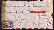 1943  Registered Air Mail Letter To USA Double Censored - Curaçao, Nederlandse Antillen, Aruba