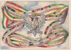 MILITARI SOLDATI REGGIMENTO MILIZIA VENTENNIO FASCIO ASSOCIAZIONE DELL'ARMA DI CAVALLERIA ILLUST.D'ERCOLI ORIGINALE100% - Guerra 1939-45