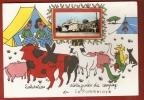 CPSM 10X15 . Illust. Humour CAMPING  (49) LA POMMERAYE  4007 H.  + Mini Vue De La Poste - Other Municipalities