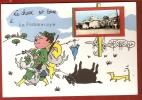 CPSM 10X15 . Illust . Humour CHASSE  (49) LA POMMERAYE  4007 H. + Mini Vue De La Poste - Other Municipalities