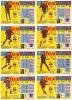 COLECCION COMPLETA DE 8 NÚMEROS DE LOTERIA SOBRE EL FUTBOL CLUB BARCELONA (LOTO) - Fútbol