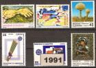 ANDORRA ESPAÑOLA AÑO 1991 ** COMPLETO  6 VALORES - Andorre Espagnol