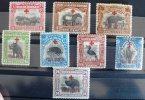 BORNEO NORD Faune+oiseaux, (yvert 183+187/193 Inclus) Serie Complete Animaux. Avec Charniere - Birds