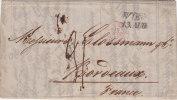 Cachet D'Entrée En France,1847, Autr. Forbach 2 ,Wien, Taxe 21 /39 - 1801-1848: Precursori XIX