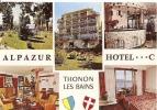 THONON LES BAINS ALPAZUR HOTEL *** SITUATION EXCEPTIONNELLE ,FACE AU LAC  (COULEUR) INTERIEUR ,EXTERIEUR   REF 25255 - Hotels & Restaurants