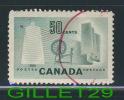 CANADA STAMP - TEXTILE INDUSTRY - No 334,  0,50ç, LIGHT GREEN, 1953 - USED - - 1952-.... Règne D'Elizabeth II