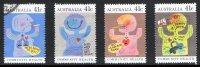 Australia 1990 Community Health Set Of 4 Used - 1990-99 Elizabeth II