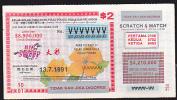Lottery - Kelab-Kelablumba Kuda Pulau Pinang, Big Sweep - Lottery Tickets