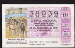 Lottery - Spain - Espana - Caballos En El Nuevo Mundo - Horses - Lottery Tickets