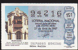 Lottery - Spain - Espana - Colonial Architecture - Lottery Tickets