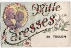 """Carte Postale Système De TOULON """"mille Caresses De.... Soulevez La Tirette 10 Vues - Toulon"""