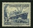 GERMANIA - 3° REICH 1937 - Nave - N. 601 *  - Cat. 5,33 € - L. N. 4224 - Germania