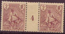 Guinée Française N°19** En Paire Mill.4